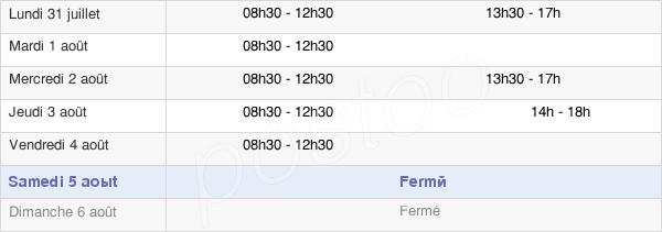 horaires d'ouverture de la Mairie De Vigy