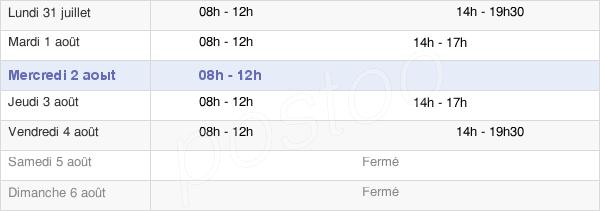horaires d'ouverture de la Mairie De Woustviller