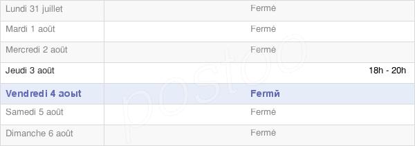 horaires d'ouverture de la Mairie De Foville