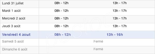 horaires d'ouverture de la Mairie De Longeville-Lès-Saint-Avold