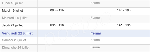 horaires d'ouverture de la Mairie De Vaux