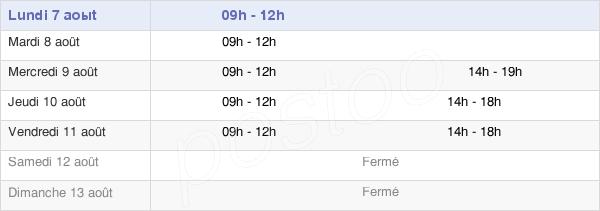 horaires d'ouverture de la Mairie De Verny