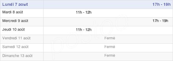 horaires d'ouverture de la Mairie De Servigny-Lès-Raville