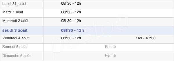 horaires d'ouverture de la Mairie De Fleury