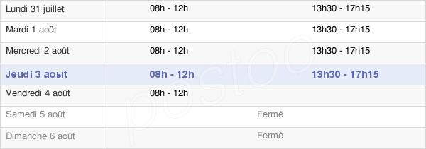 horaires d'ouverture de la Mairie D'Hombourg-Haut