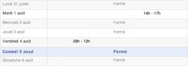 horaires d'ouverture de la Mairie D'Aboncourt-Sur-Seille