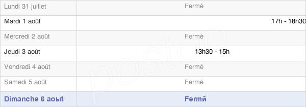 horaires d'ouverture de la Mairie De Guéblange-Lès-Dieuze