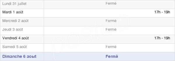 horaires d'ouverture de la Mairie De Bionville-Sur-Nied