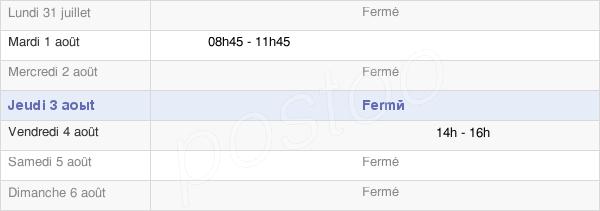 horaires d'ouverture de la Mairie De Hampont
