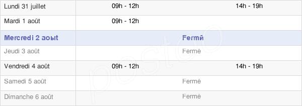 horaires d'ouverture de la Mairie De Goin