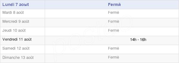 horaires d'ouverture de la Mairie De Marimont-Lès-Bénestroff