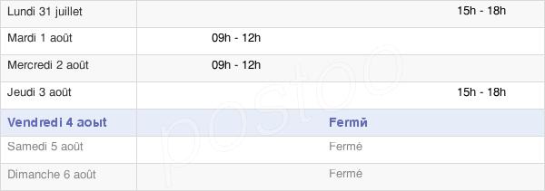 horaires d'ouverture de la Mairie De Henriville