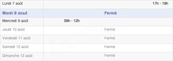 horaires d'ouverture de la Mairie De Frémery