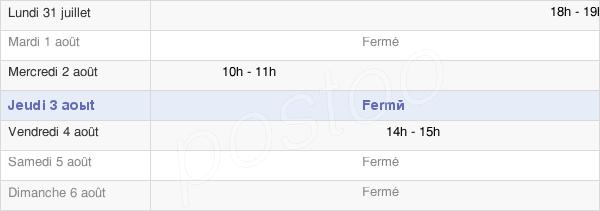 horaires d'ouverture de la Mairie D'Haute-Vigneulles