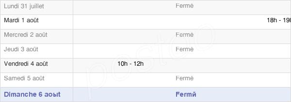horaires d'ouverture de la Mairie D'Aulnois-Sur-Seille