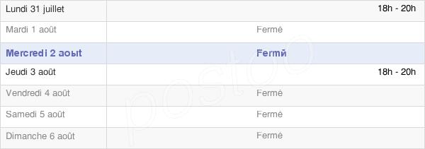 horaires d'ouverture de la Mairie De Beux