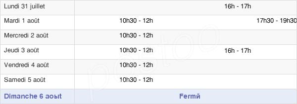horaires d'ouverture de la Mairie D'Hartzviller