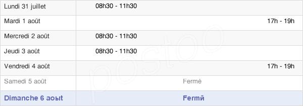 horaires d'ouverture de la Mairie D'Ébersviller