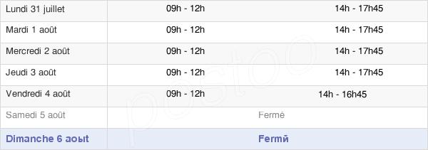 horaires d'ouverture de la Mairie De Bousse