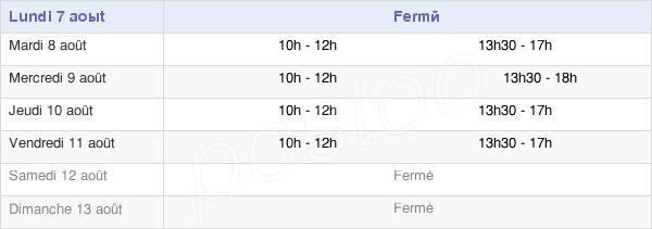 horaires d'ouverture de la Mairie De Francaltroff
