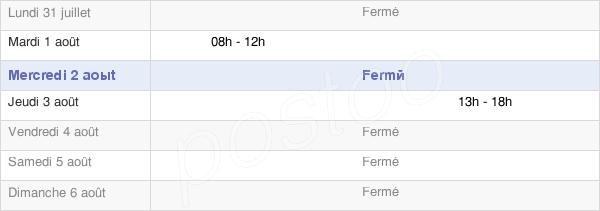 horaires d'ouverture de la Mairie D'Amelécourt