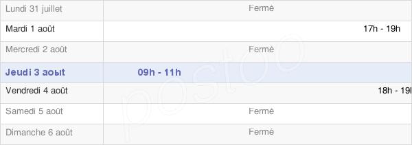 horaires d'ouverture de la Mairie De Monneren