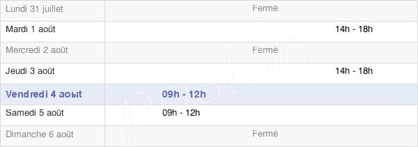 horaires d'ouverture de la Mairie De Sougy-Sur-Loire