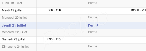 horaires d'ouverture de la Mairie De Bistroff