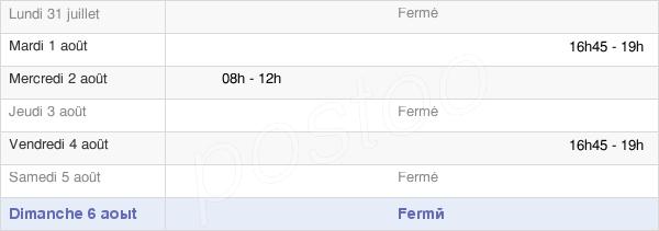 horaires d'ouverture de la Mairie De Guebenhouse