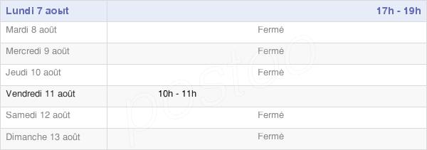 horaires d'ouverture de la Mairie D'Erstroff