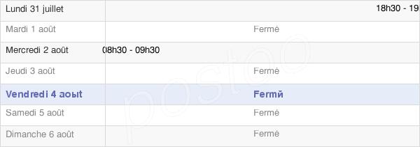 horaires d'ouverture de la Mairie De Malaucourt-Sur-Seille
