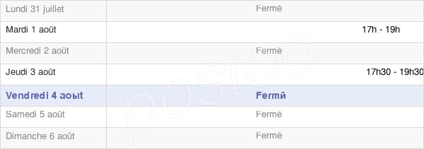 horaires d'ouverture de la Mairie De Coin-Sur-Seille