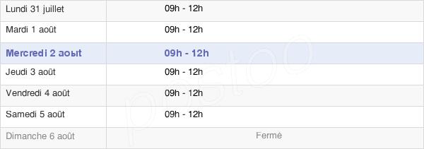 horaires d'ouverture de la Mairie De Saint-Haon