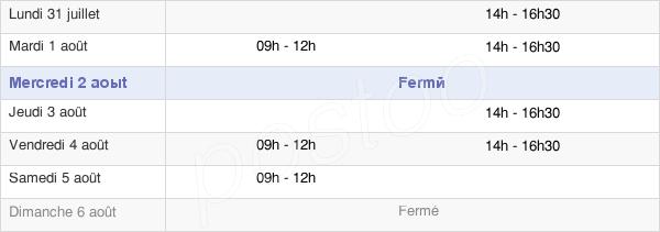 horaires d'ouverture de la Mairie De Chamalières-Sur-Loire