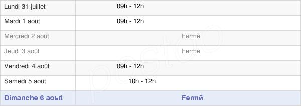 horaires d'ouverture de la Mairie De Saint-Pierre-Du-Champ