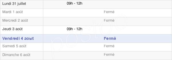 horaires d'ouverture de la Mairie De Monlet