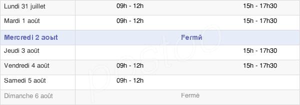 horaires d'ouverture de la Mairie De Bournoncle-Saint-Pierre