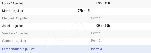 horaires d'ouverture de la Mairie De Lamothe