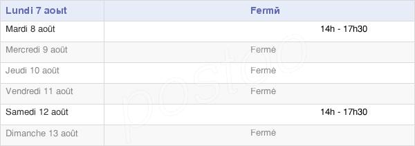 horaires d'ouverture de la Mairie De Grèzes