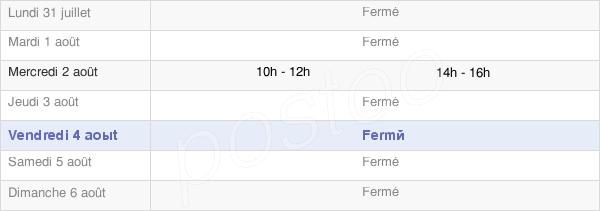 horaires d'ouverture de la Mairie De Saint-Pal-De-Senouire