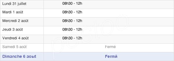 horaires d'ouverture de la Mairie De Présailles