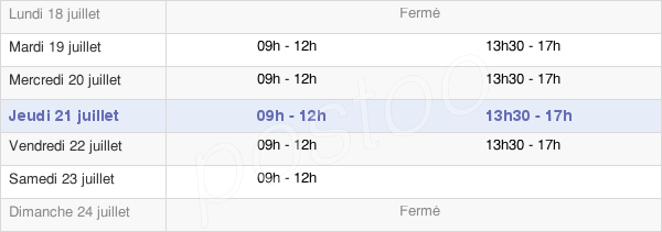 horaires d'ouverture de la Mairie De Saint-Front