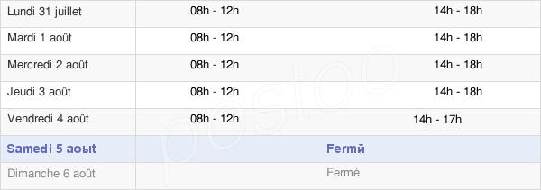 horaires d'ouverture de la Mairie De Brives-Charensac