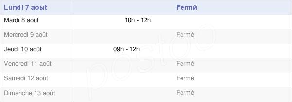 horaires d'ouverture de la Mairie D'Ouides
