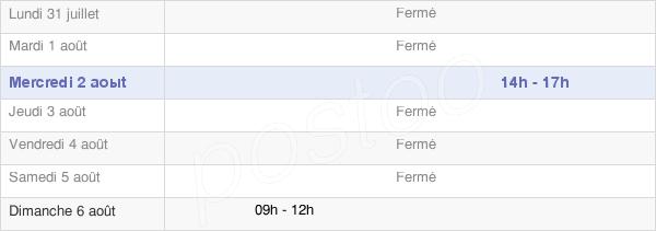 horaires d'ouverture de la Mairie De Saint-Arcons-De-Barges