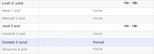 horaires d'ouverture de la Mairie De Ferrussac