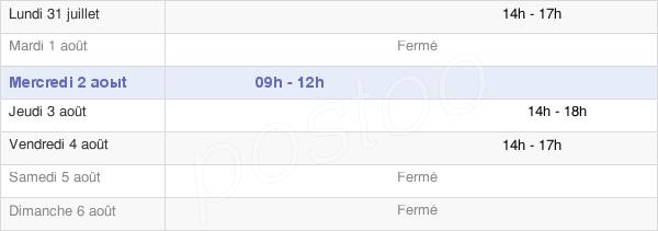 horaires d'ouverture de la Mairie De Saint-Étienne-Lardeyrol