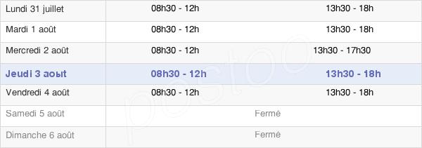 horaires d'ouverture de la Mairie De Brioude