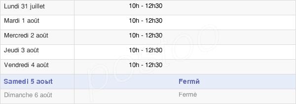 horaires d'ouverture de la Mairie De Vieille-Brioude