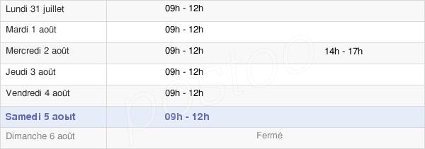 horaires d'ouverture de la Mairie De Pradelles